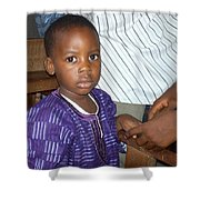 Precious Nigerian Boy Shower Curtain