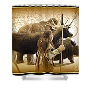 Prehistoric Man And Friends Shower Curtain