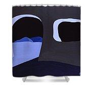 Prehistoric Nocturne Shower Curtain