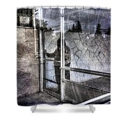 Presant And Future Not Much To Choose Between Shower Curtain