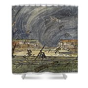 Kansas Cyclone, 1887 Shower Curtain