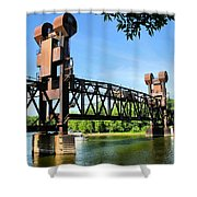 Prescott Lift Bridge Shower Curtain by Kristin Elmquist