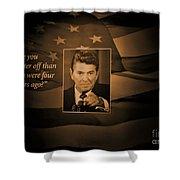 President Reagan Shower Curtain