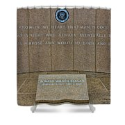 President Ronald Reagan Resting Place Shower Curtain