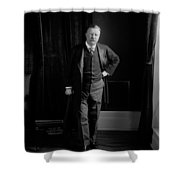 President Theodore Roosevelt - Portrait Shower Curtain