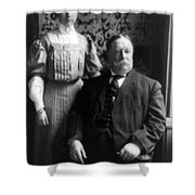President William Howard Taft With Daughter Shower Curtain by International  Images