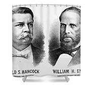 Presidentail Campaign, 1880 Shower Curtain