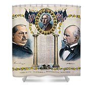 Presidential Campaign, 1892 Shower Curtain