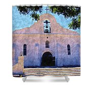 Presido Chapel San Elizario Texas Shower Curtain