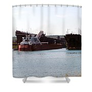 Presque Isle Ship Loading Shower Curtain