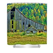 Prest Road Barn Hdr Shower Curtain
