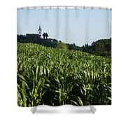 Prezganje Church Shower Curtain
