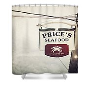 Price's Seafood Shower Curtain