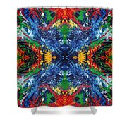 Primary Abstract I Design Shower Curtain