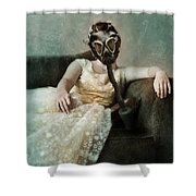 Princess In Gas Mask 2 Shower Curtain
