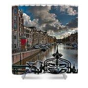 Prinsengracht And Leidsestraat. Amsterdam Shower Curtain