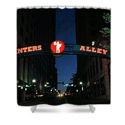 Printers Alley In Nashville Shower Curtain