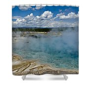 Prismatic Spring Yellowstone Shower Curtain