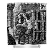 Prison: Cage, 17th Century Shower Curtain