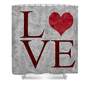 Pristine Love Shower Curtain