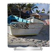 Progreso Mexico Fishing Boat Shower Curtain