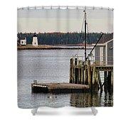 Prospect Harbor Lighthouse Shower Curtain by Jack Schultz