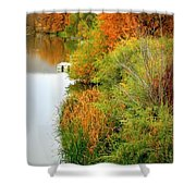 Prosser Autumn Docks Shower Curtain by Carol Groenen