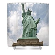 Proudly She Stands Shower Curtain