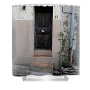 Provence Door Number 33 Shower Curtain
