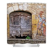 Provence Window And Wall Painting Shower Curtain