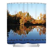 Proverbs 27 V19 Shower Curtain