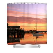 Provincetown Harbor Before Sunrise Shower Curtain