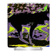 Prowling Shower Curtain