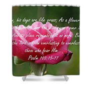 Psalm 103 Shower Curtain