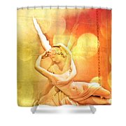 Psyche Revived By Cupid's Kiss Shower Curtain
