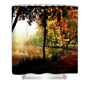 Psychedelic Autumn Shower Curtain