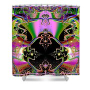 Psychedelic Blackhole Birthday Party Fractal 120 Shower Curtain