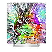 Psychedelic Daisy 2 Shower Curtain