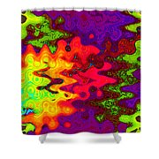 Psychedelic Guitar Shower Curtain