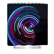 Psychedelic Hula Hoop Shower Curtain by Ilan Rosen