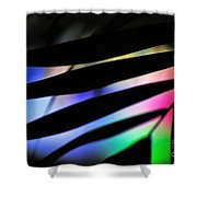 Psychedelic Palm Abstract Shower Curtain