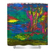 Psychedelic Sea Shower Curtain