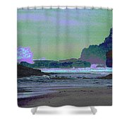 Psychedelic Splash Shower Curtain