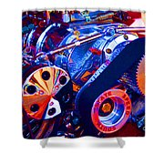 Psychodelic Supercharger-1 Shower Curtain