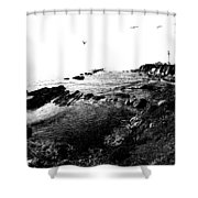 Pt Arena Lighthouse With Effect Shower Curtain