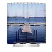Public Dock On Chautauqua Lake Shower Curtain