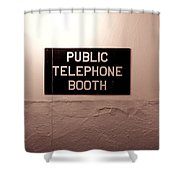 Public Phone Booth Shower Curtain