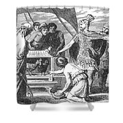 Publius Claudius Pulcher And The Sacred Shower Curtain by Photo Researchers