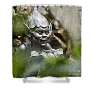 Puck In The Garden Shower Curtain by Heiko Koehrer-Wagner