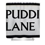 Pudding Lane Shower Curtain
